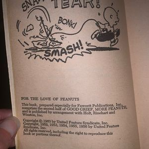 Peanuts Other - For the love of peanuts cartoon book